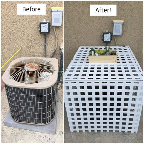 Outside Air Conditioner Stand Diy