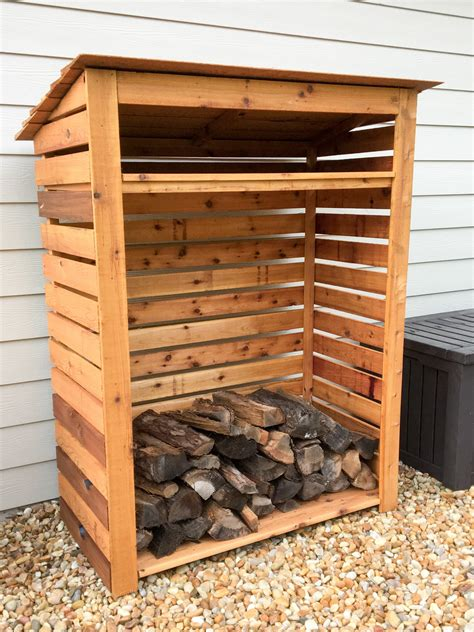 Outside Firewood Storage Rack Plans