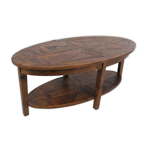Oval Coffee Table With Reclaimed Wood