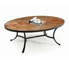 Best Oval coffee table wood and metal