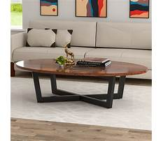 Best Oval coffee tables wood