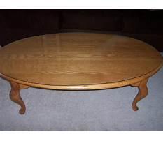 Best Oval solid oak coffee tables