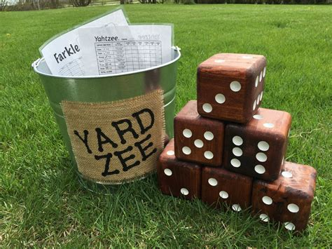 Oversized Wood Dice Diy Game