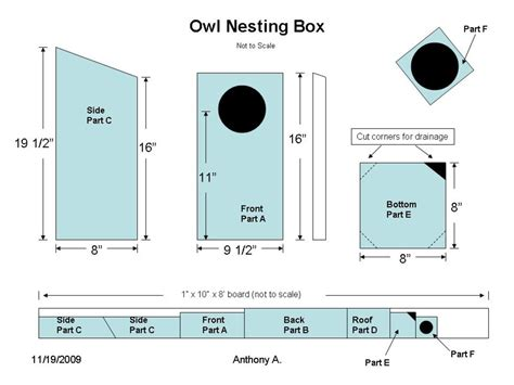 Owl Nesting Boxes Plans
