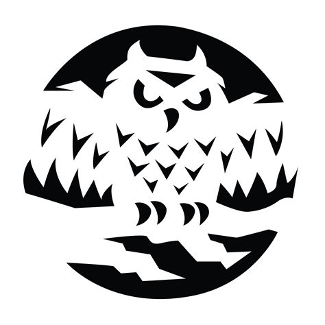 Owl Pumpkin Carving Template Free