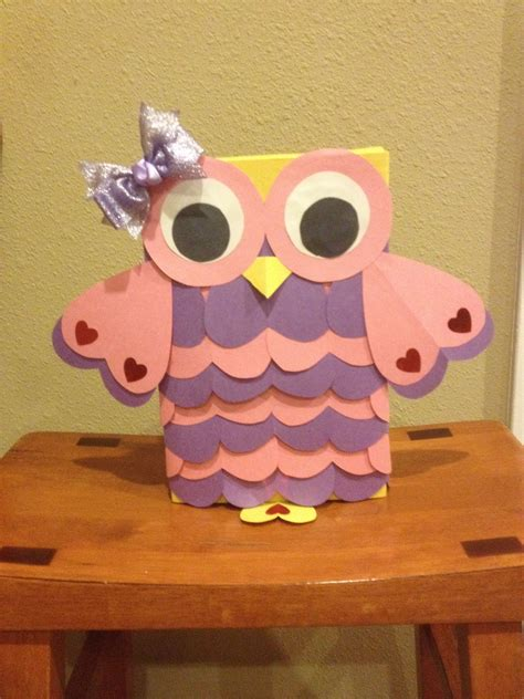 Owl Valentine Box Diy