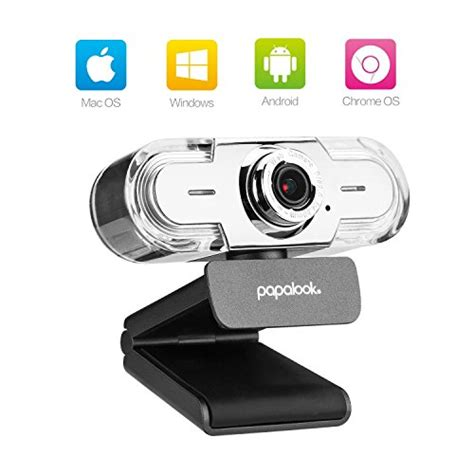 PAPALOOK 1080P HD Webcam, USB PC Computer Camera PA452 PRO Web Camera, built-in Mic for Video Skype YouTube Compatible with Windows 7/8/10