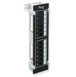PATCH PANEL- VERTICAL- CAT 6- 12-PORT (Catalog Category: Installation Equipment / Patchcords)