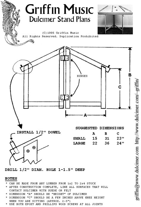 PDF Hammered Dulcimer Stand Plans