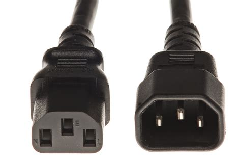 PDU Power Cord 4 Feet C14 to C13 - 15Amp 14 awg- 5 pack