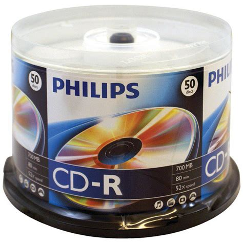 PHILIPS D52N600 700MB 80-Minute 52x CD-Rs (50-ct Cake Box Spindle)