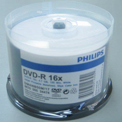 PHILIPS DVD-R/16/WP29HM DVD-R 16x 4.7gb white inkjet printable spindle 100pk # DM4I6BOOM/17