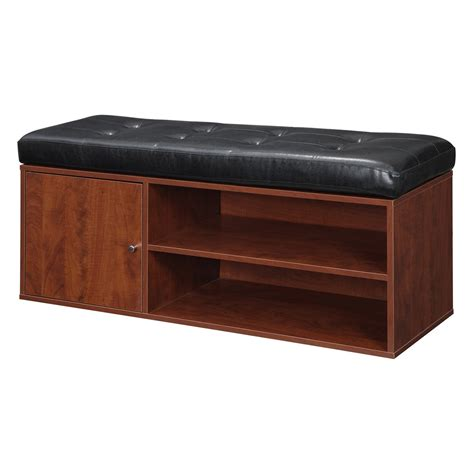 Padded Seat Bench With Storage