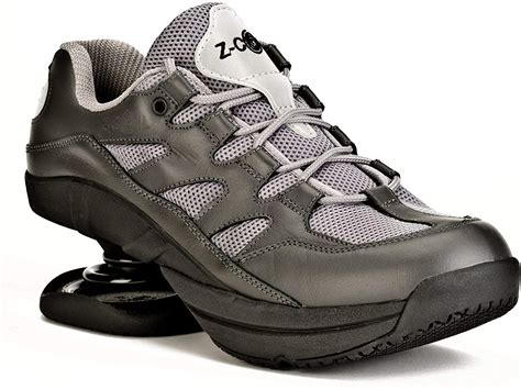 Pain Relief Footwear Men's Freedom Slip Resistant Navy Leather Tennis Shoe