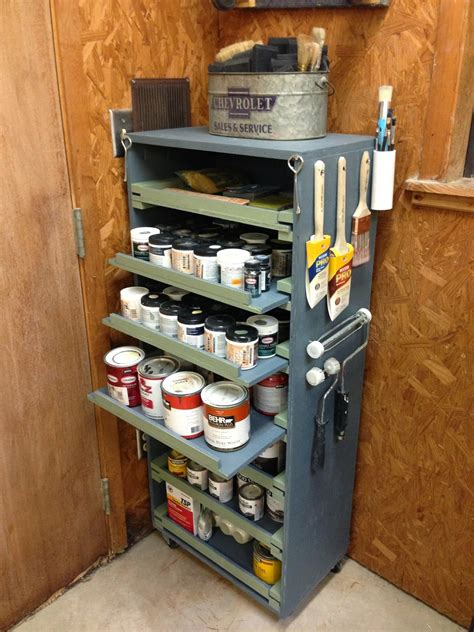 Paint Storage Cabinet DIY