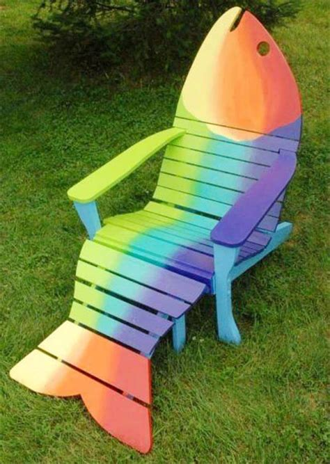 Painted Fish Adirondack Chairs