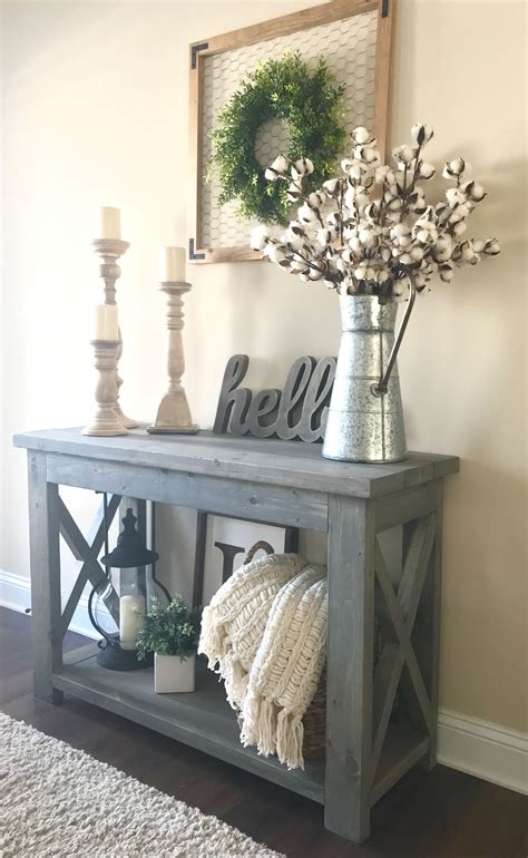 Painted Wood Entry Table Diy Design