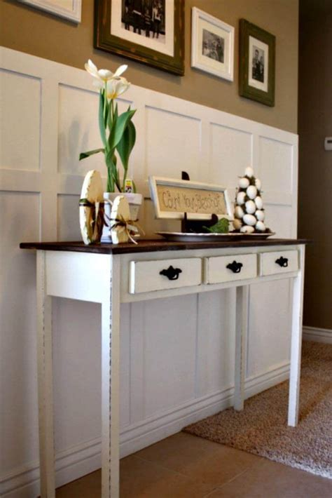 Painted Wood Entry Table Diy For 3d