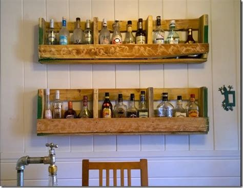 Pallet Liquor Rack Diy