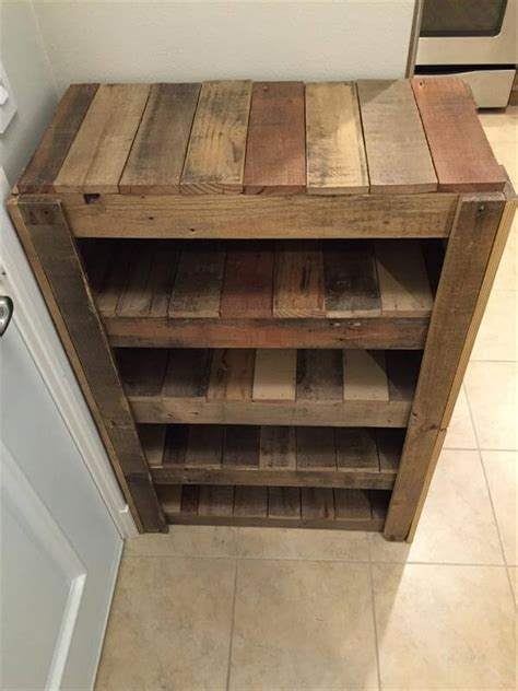 Pallet Shoe Rack Diy Crates