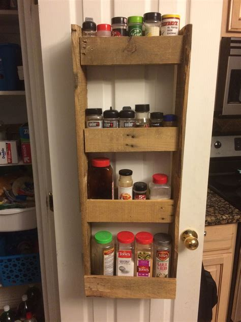 Pallet Spice Rack Diy Canning