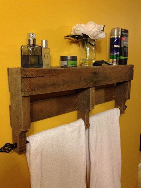 Pallet Towel Rack Plans