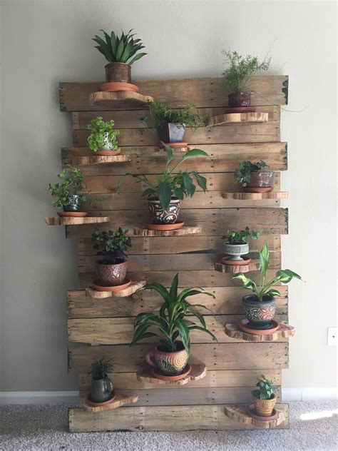 Pallet Wall Plant Holder Images Of