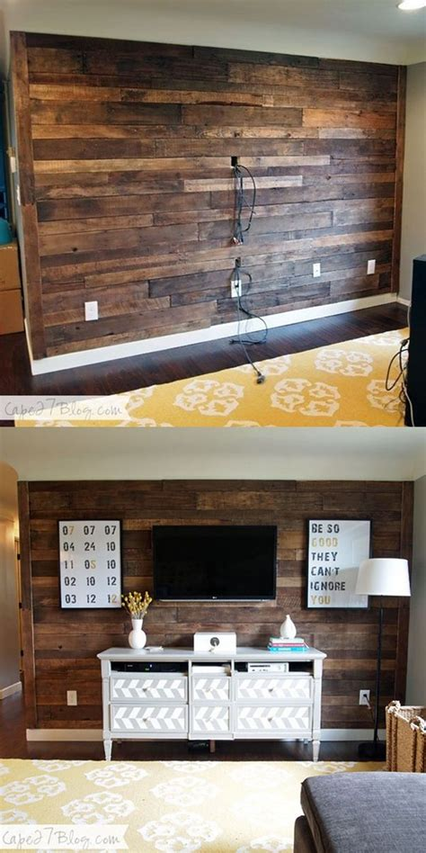 Pallet Wood Accent Wall Diy Cheap