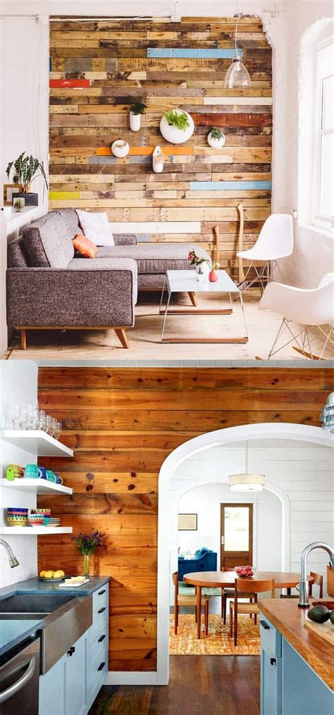 Pallet Wood Accent Wall Diy Ideas