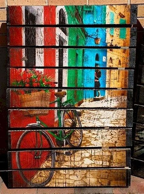 Pallet Wood Canvas Diy Design