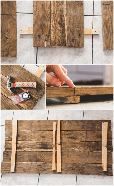 Pallet Wood Canvas Diy Sisters