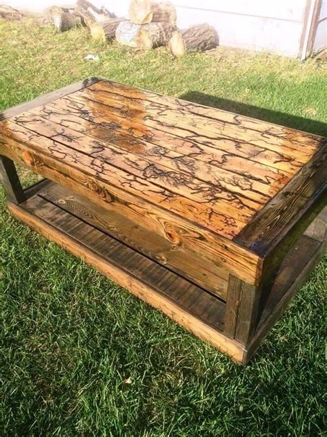Pallet Wood Coffee Table Diy Pottery