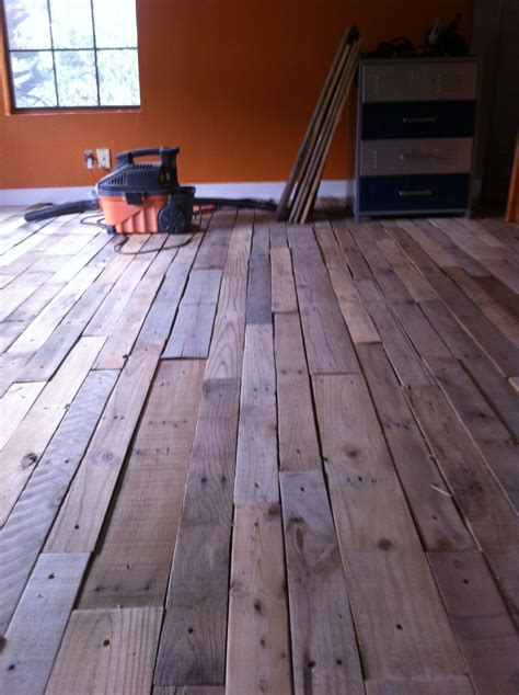 Pallet Wood Floor Diy Youtube