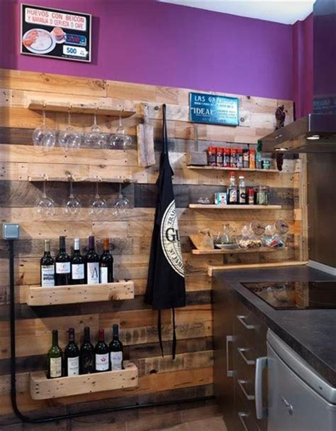 Pallet Wood Wine Bar Diy