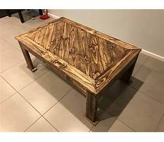 Best Pallet furniture plans coffee table