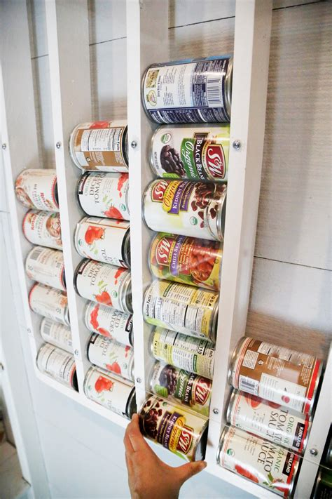 Pantry Can Wall Rack Diy Fire