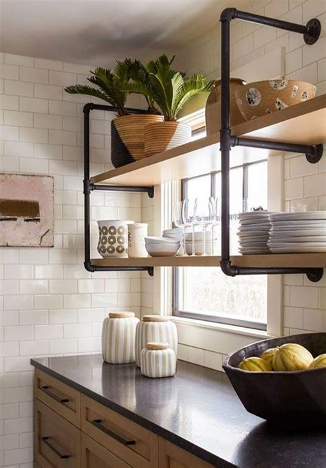 Pantry Diy Shelves With Pipes