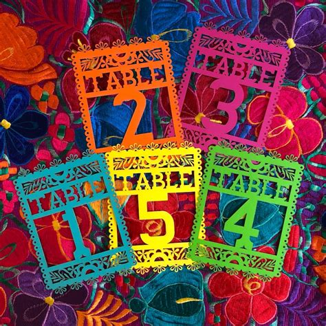 Papel Picado Diy Table Numbers
