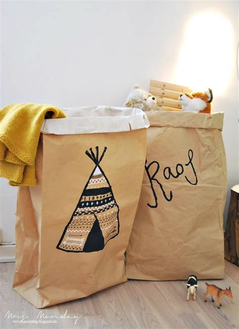 Paper Bag Storage Diy