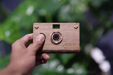Paper Shoot Walnut Diy Wooden Camera