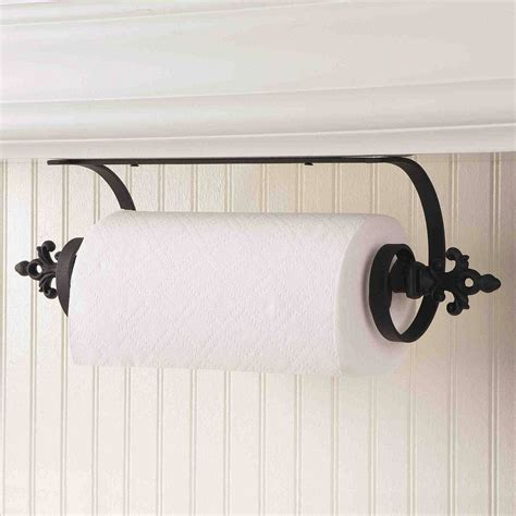 Paper Towel Holder Under Cabinet Wooden Shelves
