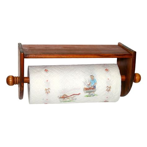Paper Towel Holder Wall Mount Wooden Paper