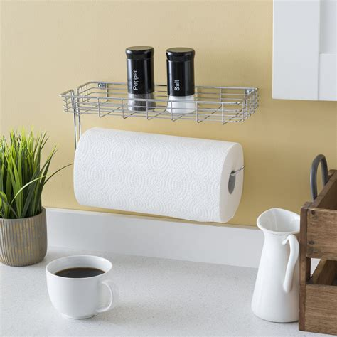 Paper Towel Rack With Shelf