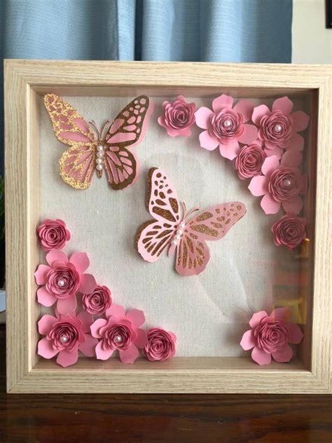 Paper-Flower-Shadow-Box-Diy