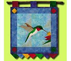 Best Paper pieced hummingbird pattern