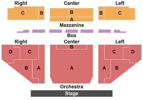 Papermill Playhouse Seating Plan