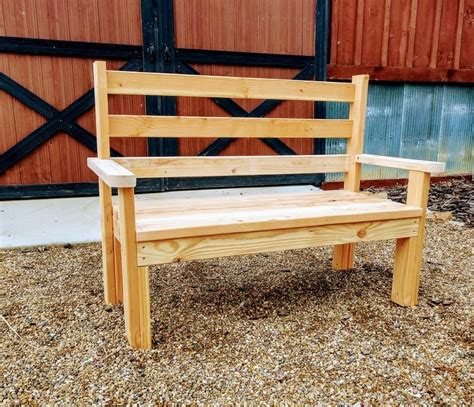 Park bench dimensions plans for pizza Image