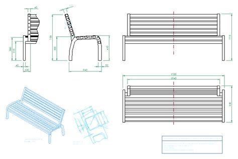 Park-Bench-Cad-Block-Plan-View