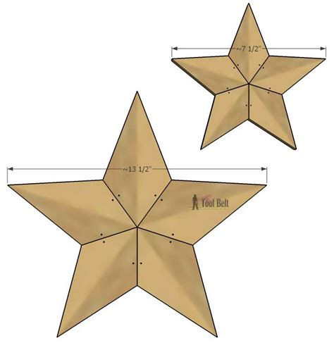 Patchwork-Wood-Star-Cutting-Plans