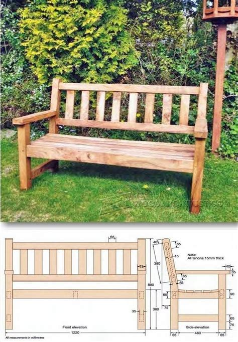 Patio Bench Design Plans